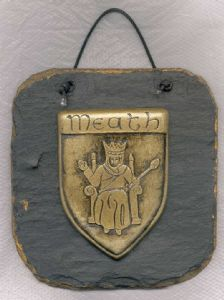 Meath County Crest slate wall plaque